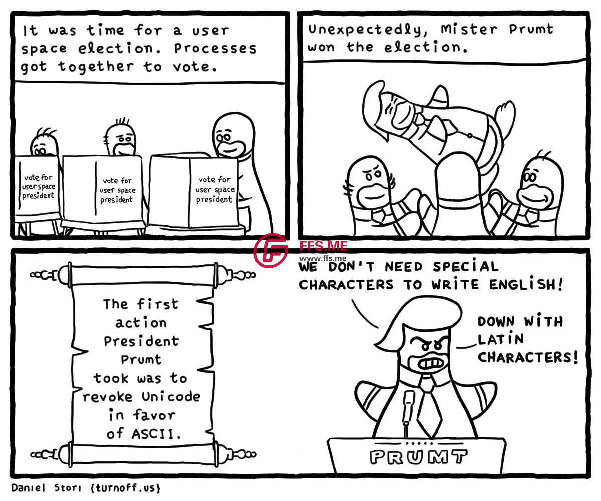 User Space Election geek comic
