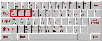 软键盘输入正负号
